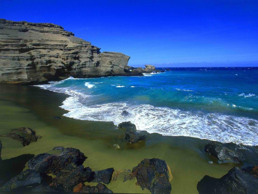 The Green sand beach hawaii